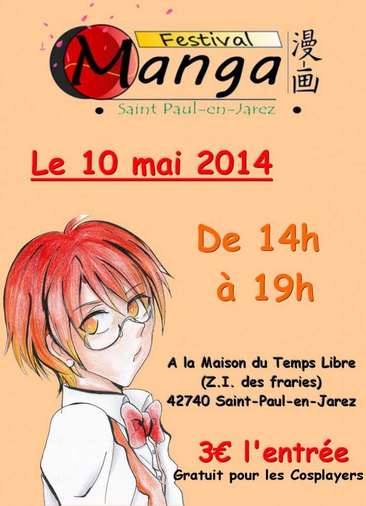affiche du festival manga